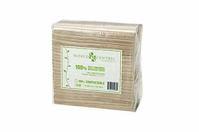 World Centric's 100% Biodegradable, 2-PLY Dinner Napkins(1 Pack of 150 Napkins) 1 Ply Dinner Napkins