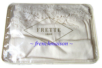 FRETTE ITALIAN Luxury CASHMERE Ivory Shawl Scarf Wrap Throw Purchased Italy $700