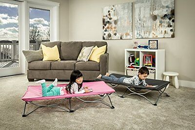Durable Portable Toddler Bed Cot Kid Furniture Girl Case Fold Camp Children PINK Portable Toddler Bed