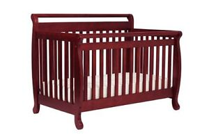 Convertible crib, full-size bed, change table, mattress