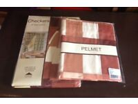 New Checkers kitchen curtains and pelmet