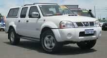 2008 Nissan Navara D22 MY08 ST-R (4x4) White 5 Speed Manual Dual Cab Pick-up Hillman Rockingham Area Preview