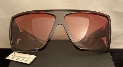 Vintage Gianni Versace Basix 814 Tort Shield Sunglasses-Mint Condition