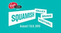 2 Tickets for Squamish Music Festival