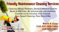 Friendly Maintance Cleaning Services - 25+ Years Of Experience