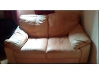 Beige leather sofa free local delivery