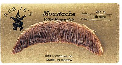 Hell Braun Einfach Charakter Schnurrbart 100% Menschliches Haar Kostüm - Charakter Kostüm Einfach