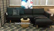 TRENDY FREEDOM STUDIO SOFA CHAISE LOUNGE ONYX - CAN DELIVER Sydney Region Preview