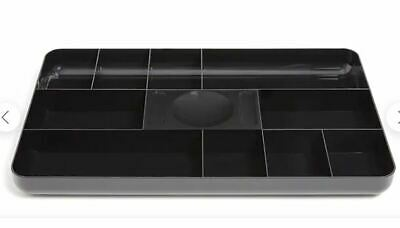 New Tru Red 13-compartment Plastic Drawer Organizer Black Tr55350