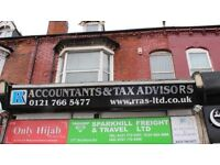THREE BEDROOM FIRST FLOOR FLAT TO LET IN THE AREA OF SPARKHILL ON THE MAIN STRATFORD ROAD