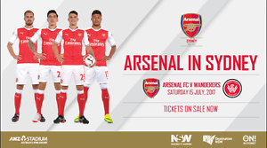 3x TICKETS to Arsenal FC vs Western Sydney Wanderers Parramatta Parramatta Area Preview