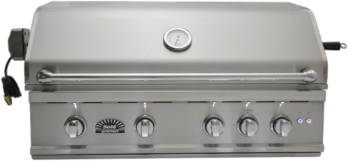 Sole 38 Inch Luxury TR Natural Gas Grill with Lights and Rot