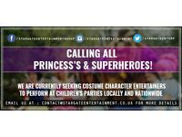 Children's Party Entertainers Wanted | Princess's | Film & Cartoon Impersonators | Super Heroes