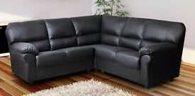 Candy leather jumbo corner couch