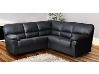 Extremely comfy leather corner couch