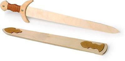 Schwert Wikinger aus Holz Kinderschwert Spielzeug Holzschwert für Kinder Neu