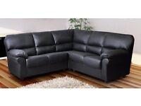 Jumbo size brand new leather corner sofa