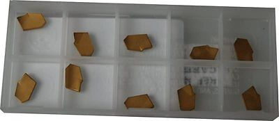 SET OF 10 CARBIDE INSERTS CGGSP FOR GLANZE PARTING TOOLS 2MM