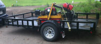 2014 UTILITY 12' DECK TRAILER 3500# AXLE, RAMPS, SIDES MAXEY