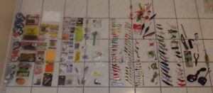 FISHING LURES LINES TACKLES BOX NET & MUCH MORE.  NEW.