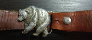 Vintage belt with collectable Grizzly buckle Kingston Kingston Area image 2