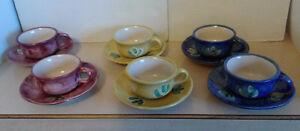 Ceramica Artistica Solimene coffee/tea set for 6