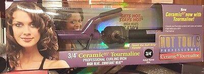 "Hot Tools Professional 3/4"" Ceramic Tourmaline Curling Iron NIB!"