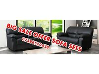 GREAT ;;;; OFFER--- LATHER SOFA----- SET 3+2