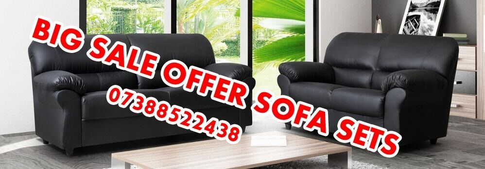 GOLDEN SALE OFFERLATHERSOFA SET3 2in Luton, BedfordshireGumtree - LAST FEW NOW WITH FREE MATCHING POUFFE ORDER NOW TO ORDER CALL OR TEXT////07388522438/////123213 3 SEATER 190CM 2 SEATER 150CM PIC IS OF EXACT SOFA AND WE GUARANTEE COMFORT AND QUALITY DELIVERY £49.99