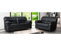 TODAY ONLY last few leather 3+2 sofas brand new chocolate brown OR BLACK 632EUBBEBB