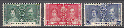 Cayman Islands - 1937 Coronation Sc# 97/99 - MLH  (7740F)