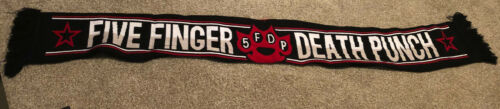 Five Finger Death Punch FFDP Soccer type Scarf Free Shipping