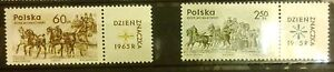 POLAND-STAMPS MNH Fi1480-81 SC1363-64 Mi1621-22 - Day of Stamp, 1965, clean - <span itemprop=availableAtOrFrom>Reda, Polska</span> - POLAND-STAMPS MNH Fi1480-81 SC1363-64 Mi1621-22 - Day of Stamp, 1965, clean - Reda, Polska