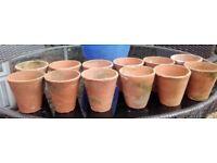 12 Vintage terracotta pots 1.