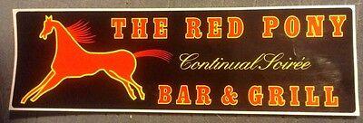 Sheriff Walt Longmire TV show Red Pony Bar & Grill Bumper Sticker Henry's Bar