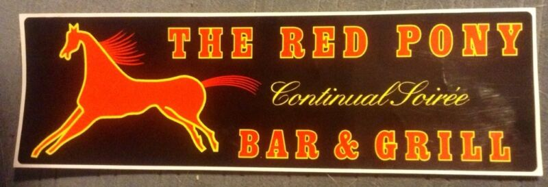Sheriff Walt Longmire TV show Red Pony Bar & Grill Bumper Sticker Henry