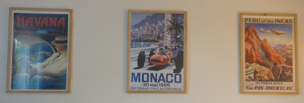 Framed Vintage Travel Posters - *MUST GO BY THURSDAY* | in Cambridge,  Cambridgeshire | Gumtree