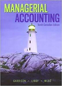Managerial Accounting 10th Canadian Edition