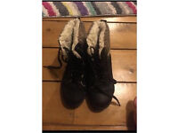 Girls JD fur lined ankle boots size 3