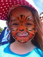 face painting, balloon twisting, caricature art, princesses