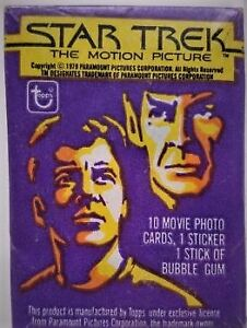 Star Trek The Motion Picture Sealed Wax Pack Trading Cards