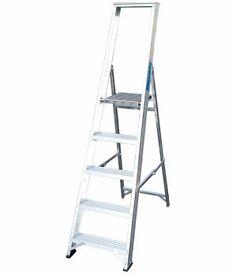 NEW Large Platform Step Ladder (trade use), aluminium, 2.6m platform height