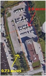 0.73 ac &/or 2.6 acres outside fenced Parking