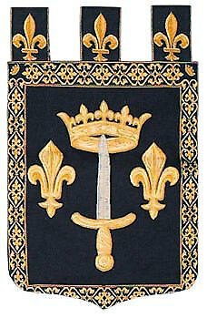 Fleur de Lis Decor - Fleur de Lis Tapestry Wall Hanging -  French Heraldic Decor