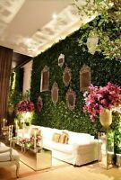 Stunning Greenery Boxwood Wall backdrop