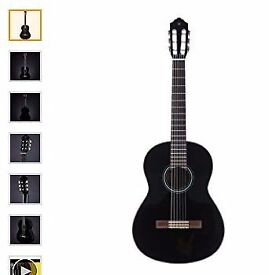 New Yamaha C40 Classical Guitar - Black with Cover