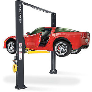 BendPak XPR-10AS Certified 2 Post Lifts, 10,000 Lbs., Clear-Floor Free Shipping