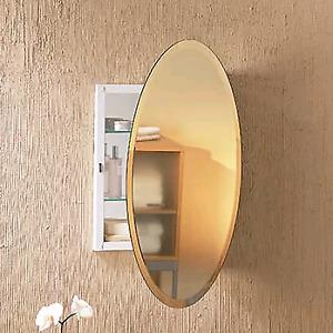 Armoire ( meuble ) à pharmacie ovale