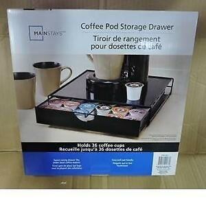NEW MAINSTAYS COFFEE POD STORAGE COMIN16JU002277 183390899 DRAWER KEURIG K CUP