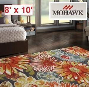 NEW* MOHAWK HOME CHARM AREA RUG 8' x 10'  MULTI COLOUR AREA RUGS FLOORING DECOR CARPET CARPETS MAT MATS PAD PADS